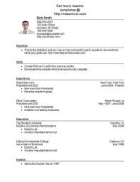 Free Online Resume Templates Senior Resume Example Create Resume