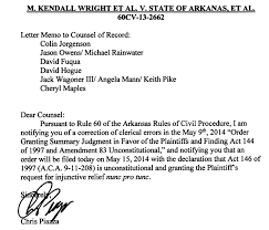 Judge Piazza Clarifies Order Pulaski County Has Resumed Issuing