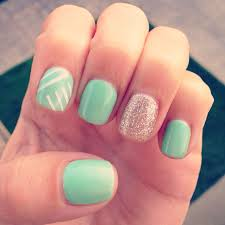 Nail Designs With Mint Color Im Obsessed With My Mint Gel Manicure Green Nails