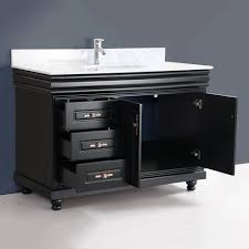 48 inch bathroom vanity with sink. classic 48 inch single sink bath vanity black finish bathroom with m