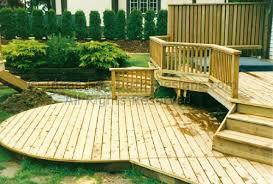 building above ground pool decks
