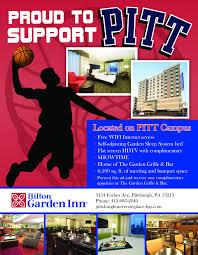 sports flyer designed for the hilton garden inn pittsburgh university place in pittsburgh pa by ath marketing athmarketing com