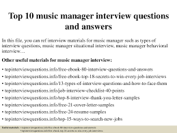 Music Manager Job Description Top 10 Music Manager Interview Questions And Answers