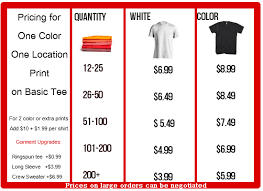 Skokie Printing Custom T Shirt Pricing Page Check Out