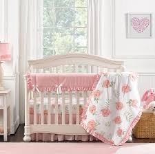 O Liz And Roo Pink Peony Crib Bedding Set