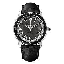 cartier watches ernest jones cartier ronde men s stainless steel black dial strap watch product number 4088581