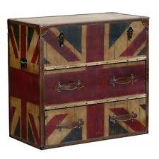 Vintage Retro Style Distressed Union Jack Trunk / Chest / Chest of Drawers