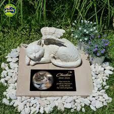 memorial cat angel figurine statue