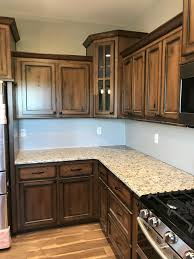 Rustic Cherry Cabinets With Early American Stain And Espresso Glaze