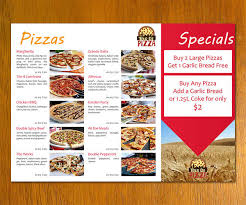sample pizza menu template