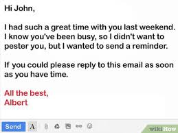 How To Remind About A Recommendation Letter How To Write A Friendly Reminder Email 12 Steps With Pictures