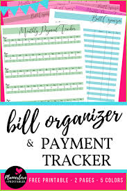 Free Printable Home Finance And Bill Organizer In 5 Fab Colors