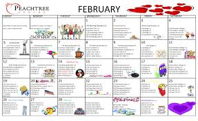 Activity Calendar – February 2017 | Peachtree Centre