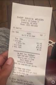 Ihop Calls Diner N Word On Receipt Apologizes With 10 Gift Card