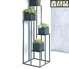 tall outdoor plant stand garden stands shelf in metal extra
