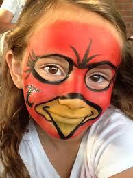 louisville cardinal face painting