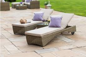maze rattan winchester miami sun lounger set with coffee table