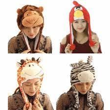 Mũ thú Đà Lạt, nón thú, mũ tai thỏ, mũ sói nâu, mũ cọp cho dân phượt, Mẹ và  Bé (Không Tai Giựt)