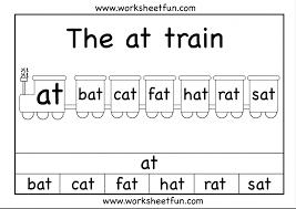 At Word Family Printable Worksheets Pinterest Kindergarten Free ...
