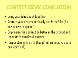 writing a context essay revision of structure 6