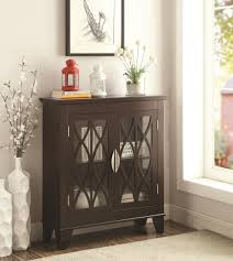 950311 glass doors cappuccino accent cabinet from coaster picture on fabulous small chests and cabinets chest