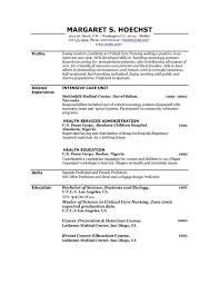 Printable Sample Resume Templates