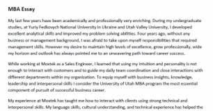sample letter vitaliy mahidov v website v s mba essay for the mba program admissions