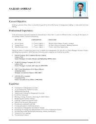 Career Objective For Resume Resume Work Template