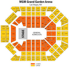 Mgm Garden Arena Seating Chart Rows Mgm Grand Garden Arena Grand Garden Arena October 20 Awesome