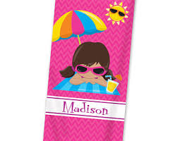 Kids beach towel Etsy