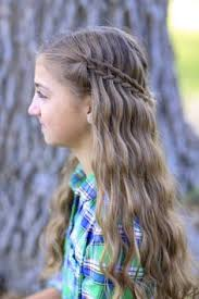Pretty Girls Hairstyle faux waterfall braid headband by cute girls hairstyles love this 2666 by stevesalt.us