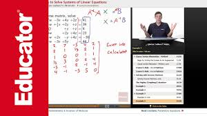solving systems of linear equations using inverse matrices