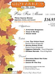 Autumn Dinner Menus Fall Menus Georgian Resort