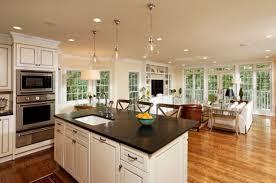 top open living room kitchen designs