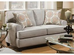 American Furniture Popstitch Dove Loveseat Great American Home