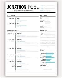 Plain Design Amazing Resume Templates Free Creative Resume Cv Free