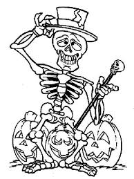 Small Picture Skeleton and Three Halloween Pumpkin Coloring Page NetArt