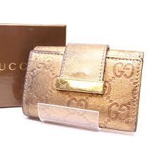 gucci 6 key holder. gucci by gucci 6 key holder used gold leather men\u0027s bag g