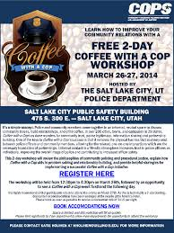Coffee With A Cop Flyer Coffee With A Cop Regional Training For Law Enforcement Slcpd