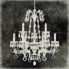 775x775 chandelier painting black and white chandelier painting