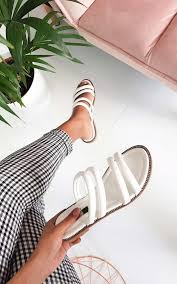 harper strappy faux leather sandals