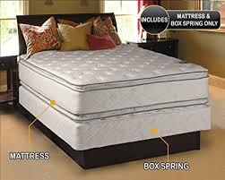 Amazoncom Princess Dream Plush Pillow Top King Size Mattress and