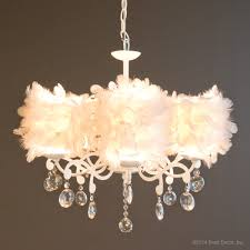 white feathers feather chandeliers light ...