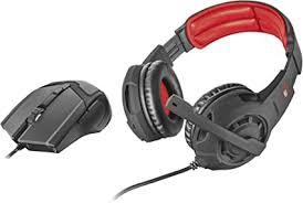 <b>Trust</b> Gaming <b>GXT 784</b> Gaming Headset and Mouse - Black ...