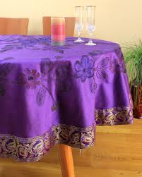 hand painted fl round tablecloth