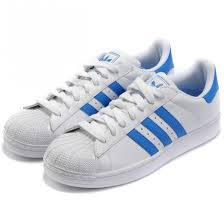 adidas shoes blue and white. shoes girl girly wishlist adidas superstars originals white sneakers blue and wheretoget