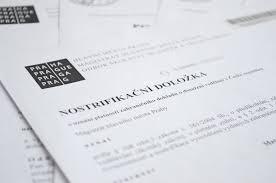 Нострификация в Чехии диплом в т ч медицинский школьный  нострификация дипломов и аттестатов в чехии
