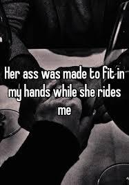 Hands in her ass