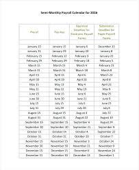 Payroll Calendar Template Beauteous Payroll Schedule Template Tacca