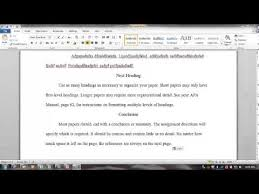 Apa Format For Nursing School Papers Youtube